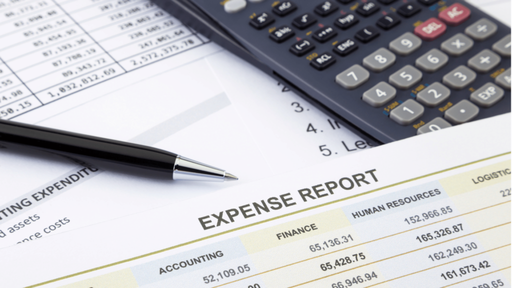 reviewing business expenses
