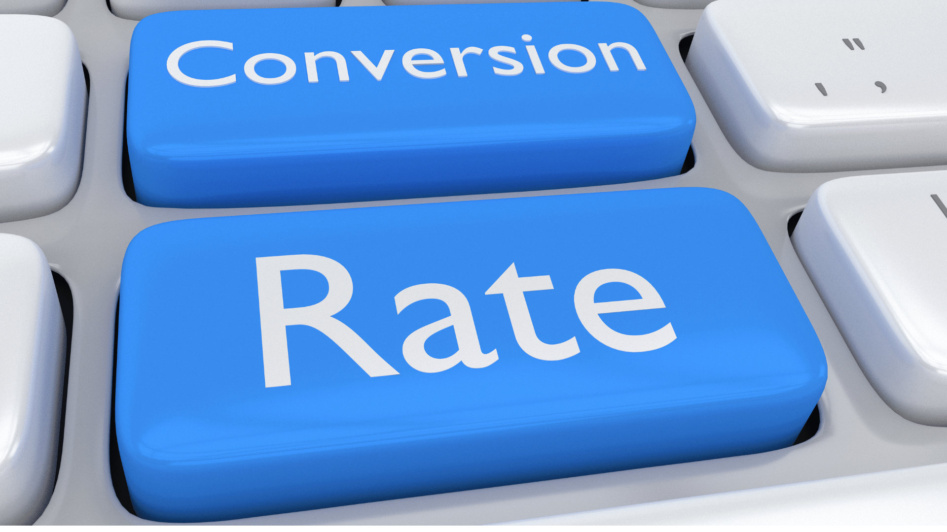 conversion rate keyboard button graphic