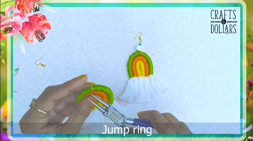 inserting the jump ring
