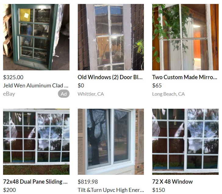 old windows on offerup