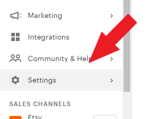 changing etsy shop name, step 3, click settings